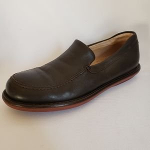 J.Crew Brown Leather Moc Loafers Casual Slip Ons